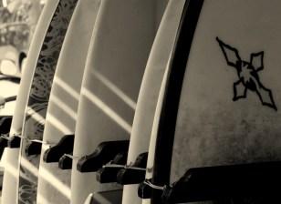 Beach Music, Beachfront Guesthouse, Jeffreys Bay, South Africa, Surfboards