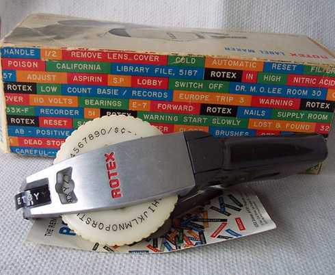 porter goodman s 1964 rotex label maker box beach