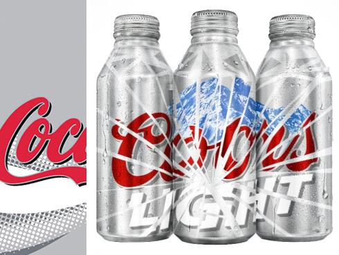 "The Coors Light ""shattered"" logo"