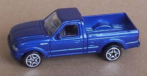 BlueMatchboxFordRangerPickupTruck