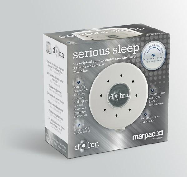 Dohm serious sleep carton design