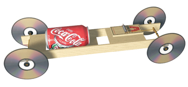 Can Dew Mousetrap Race Car Beach