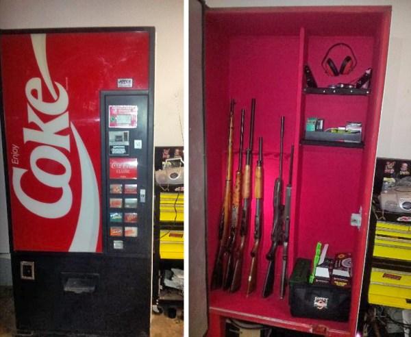 Coca-machine-gun-safe
