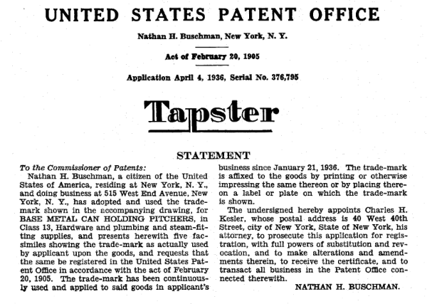 Tapster-Trademark-1936
