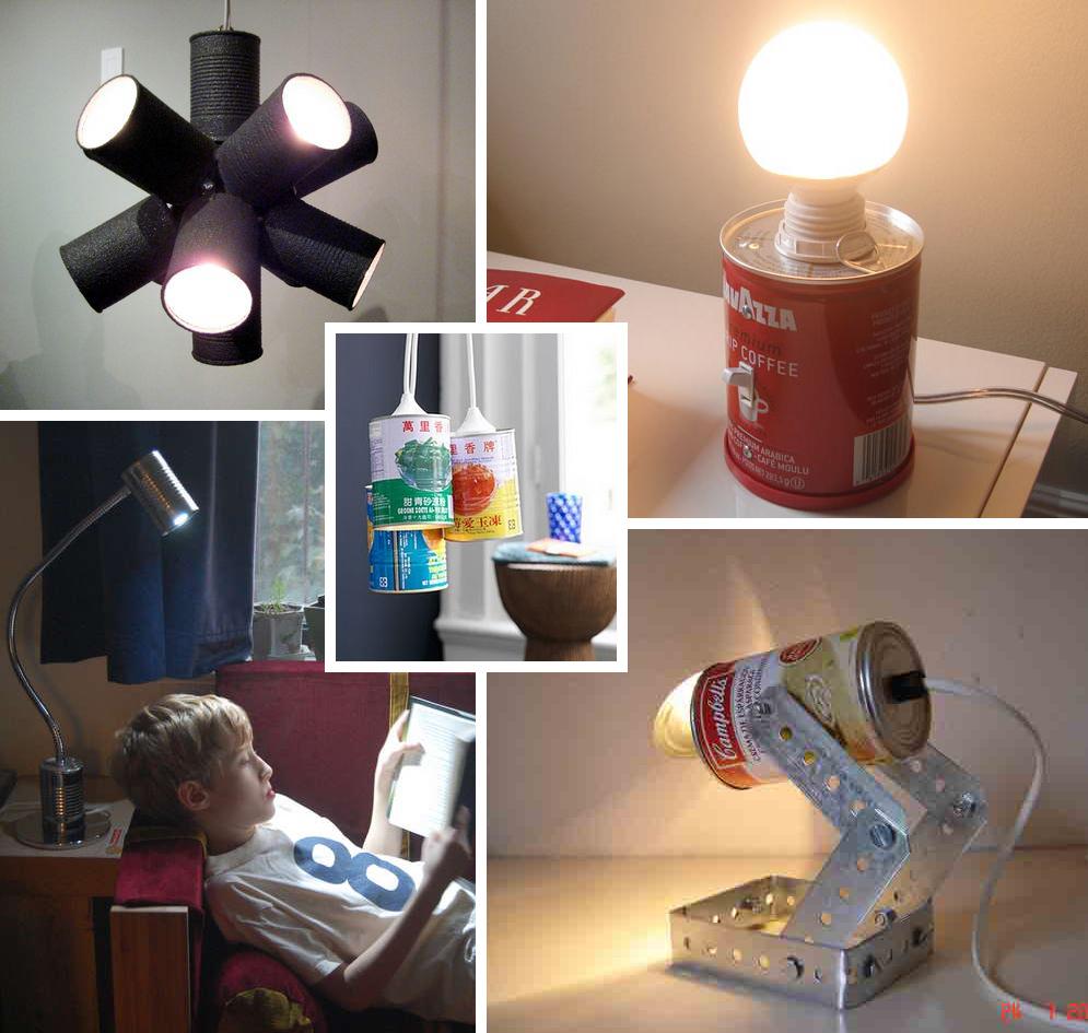Diy Lights Upper Left A Tin Can Sputnik Light Via Readymadeblogs Right Coffee With Switch Designboom Lower Goose Neck
