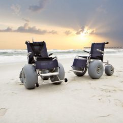 Motorized Easy Chair Power Recliner Lift Push Beach Wheelchair - Powered Mobility