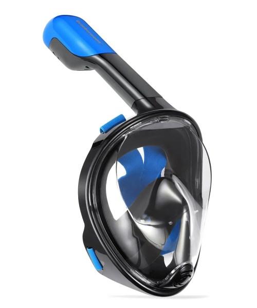 octobermoon black 2nd generation 180 degree panoramic full face snorkel mask