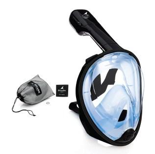 seafin full face snorkel mask black-blue
