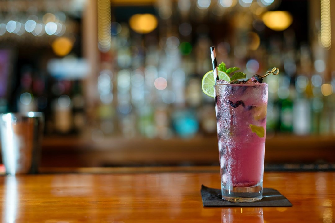 Blueberry lavender mojito with homemade syrups