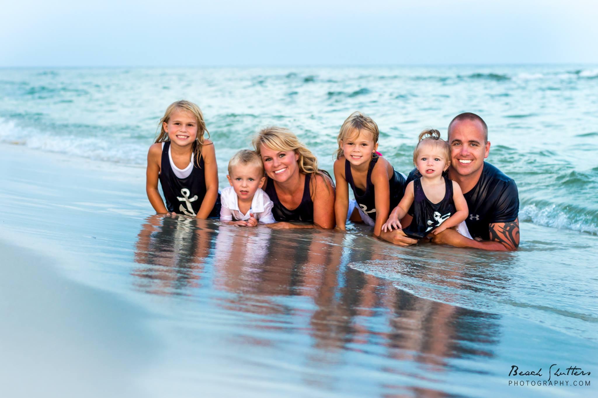 family beach portraits beach