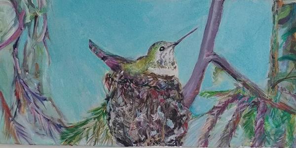 Nesting - painting - Diane Shelton -