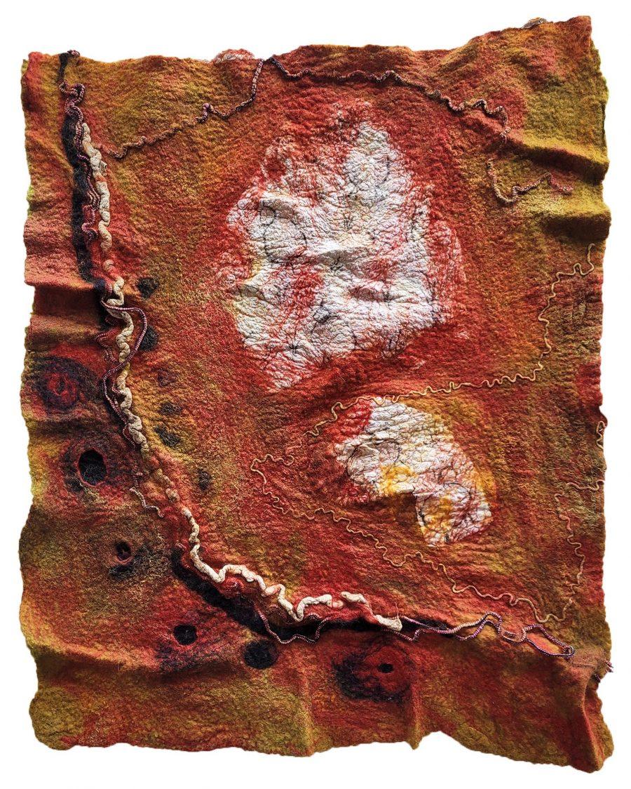 Sheila Thompson - Habitat 2050 Ghost Grazers Textile Felt
