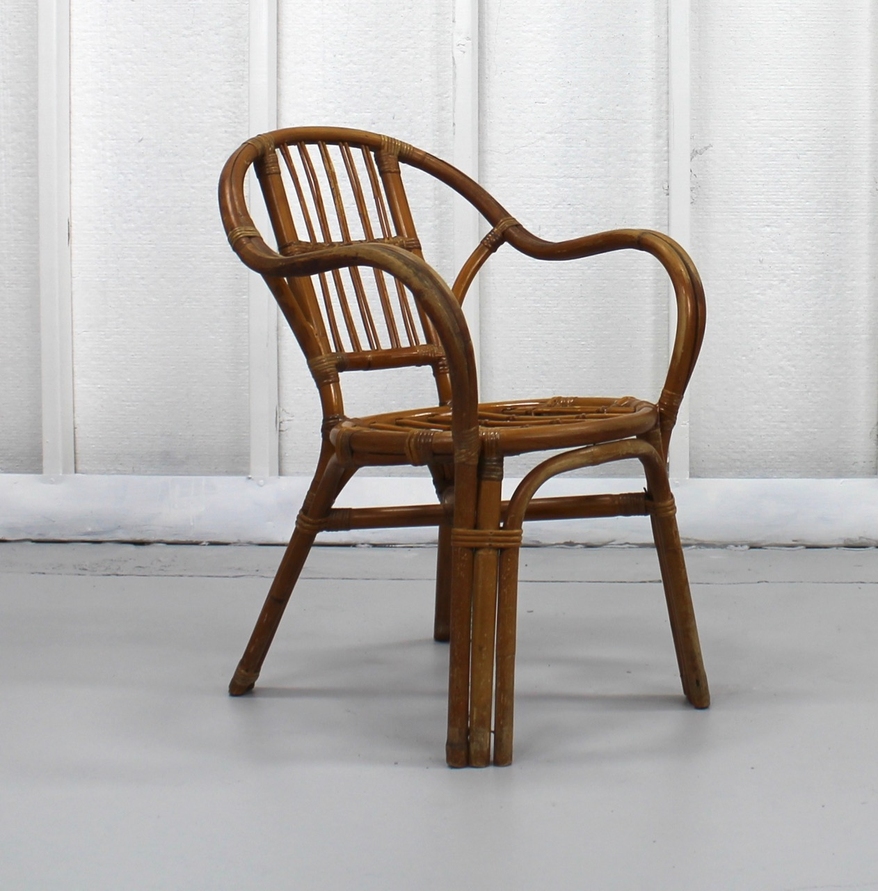 Vintage Rattan Chair Vintage Rattan Accent Chair 104a