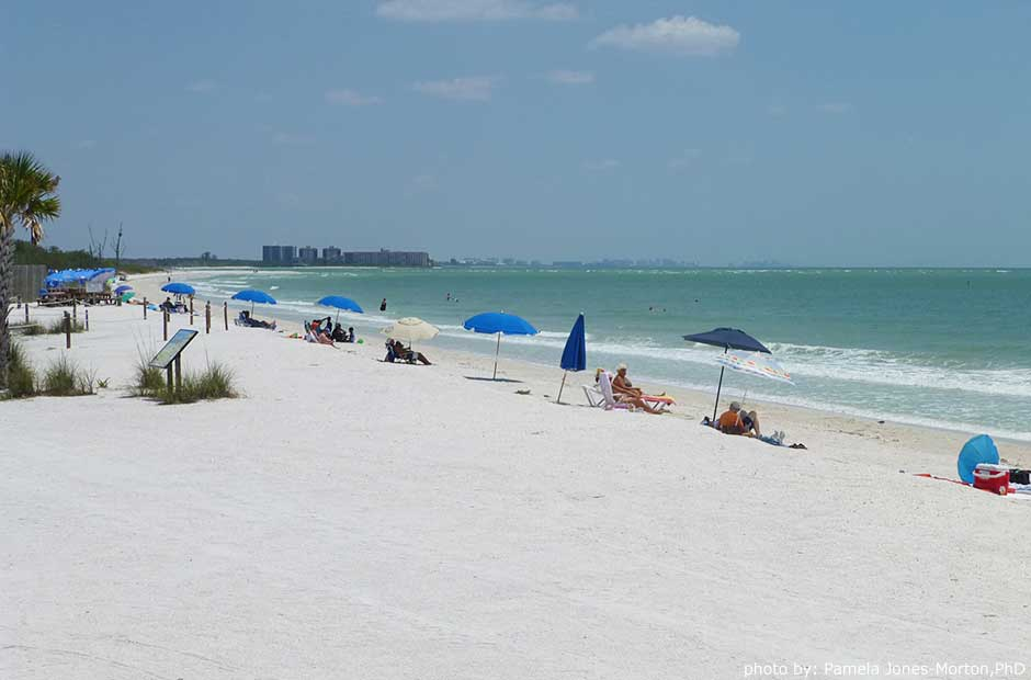 portable beach chair with umbrella childrens wooden chairs fort myers & sanibel beaches - travel destinations