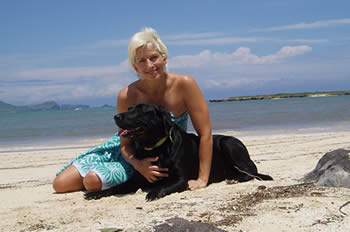 photo of rox and her dog lexi