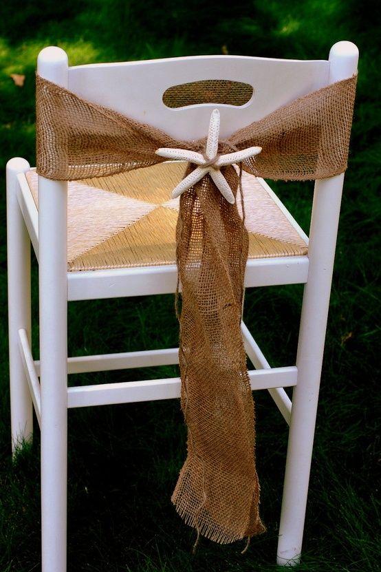 Beach Wedding Chair Decorations  Beach Wedding Tips