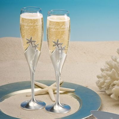 Cheers Or About The Bride S And Groom S Toasting Glasses Beach Wedding Tips