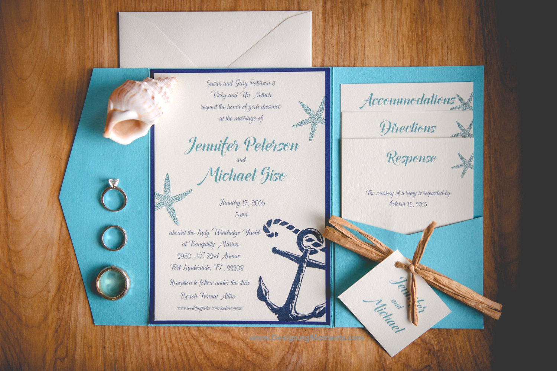 Spread the Word with Stylish and Original Beach Wedding Invitations  Beach Wedding Tips