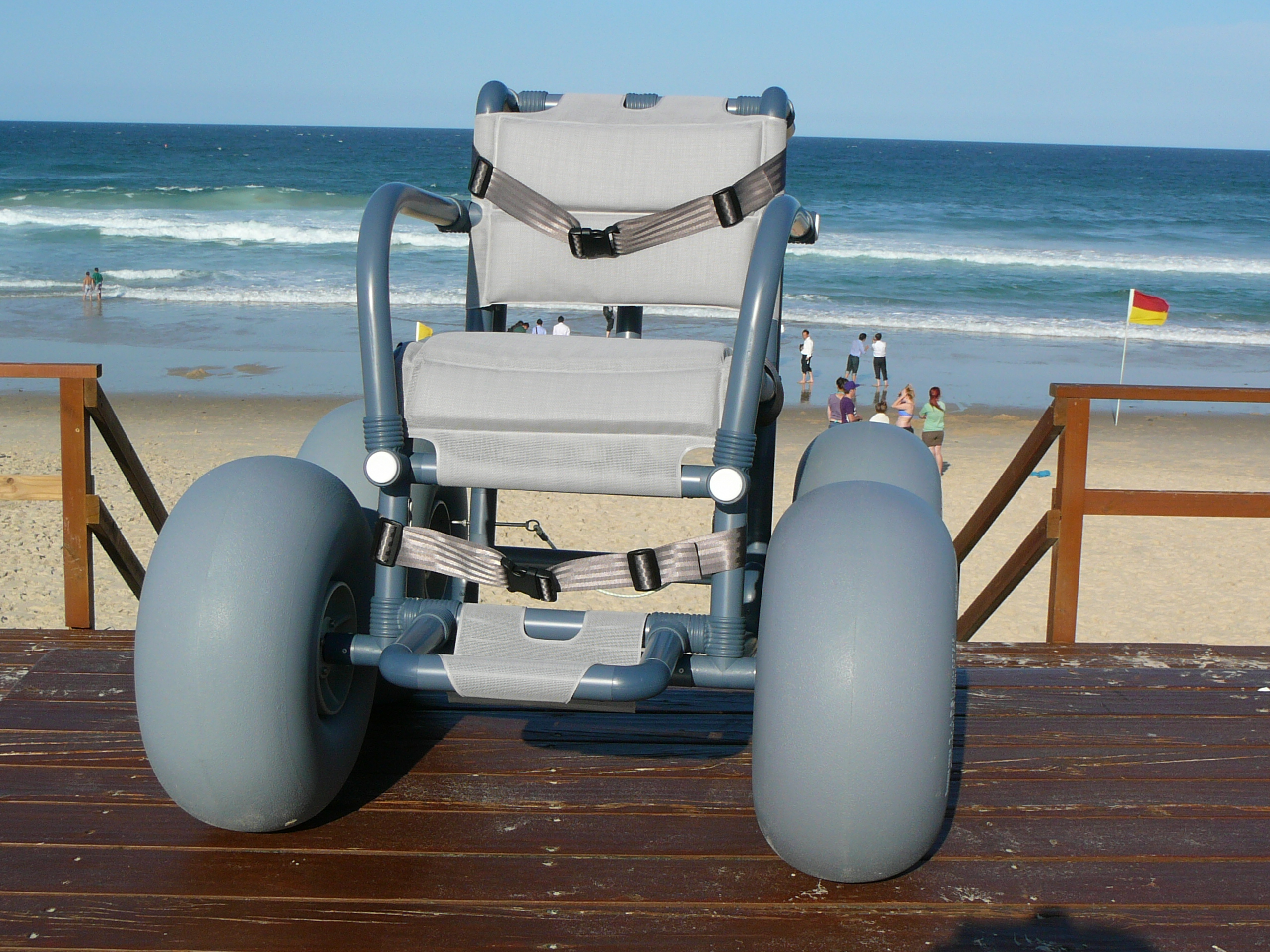wheeled beach chair movie recliner chairs the bwa all terrain  beachwheels australia