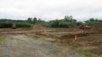 July 8, 2011 Forming the foundation's base.