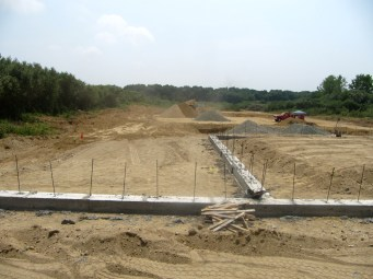 July 21, 2011 View of playground area outside auditorium/fellowship hall.