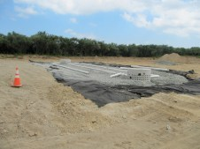 July 26, 2011 Water drainage infiltration system.