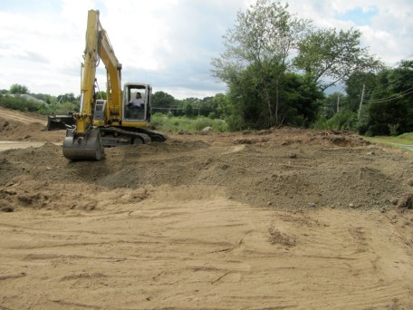 August 5, 2011 Grading on parking lot.