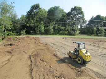 August 8, 2011 View of new driveway.