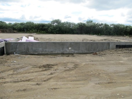August 16, 2011 Foundation walls done--ready for the plumbing and electrical wires.