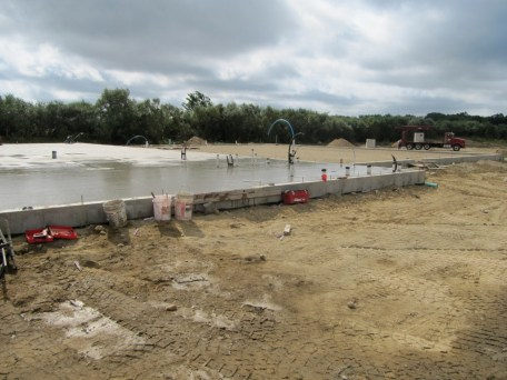August 25, 2011 Foundation in auditorium wing poured!
