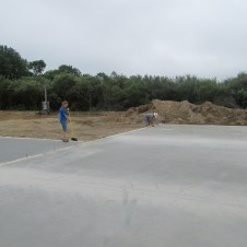 August 27, 2011 Sweeping for sill plates.