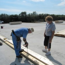 September 1, 2011 Don & Marie Wilbanks hard at work.