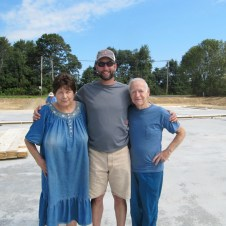 September 1, 2011 Warren & Dottie Benson touring the construction with Pastor Bill.
