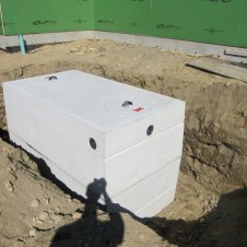 9/16/11 The grease trap. Whoa! We'll have to eat a lot of bacon to fill that thing!