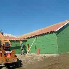 9/30/11 Putting boards on the trusses.