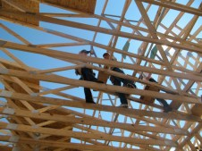 10/3/11 Getting the trusses plum