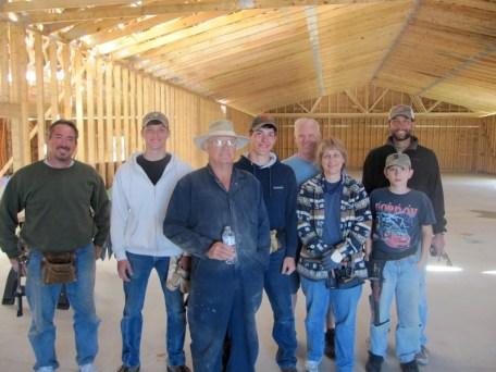 10/5/11 Workers–Cliff & Lynn Arthur, Terry, Brannon, & Brian Miller, Don Willbanks, Billy Reynolds. Special thanks to Don & Marie, who had to go back home to Tennessee. You were a tremendous blessing to us!