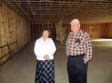12/11 Carol & Ray taking a look at the progress