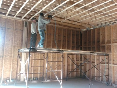 11/1/11 Brian & Dave installing furring strips.