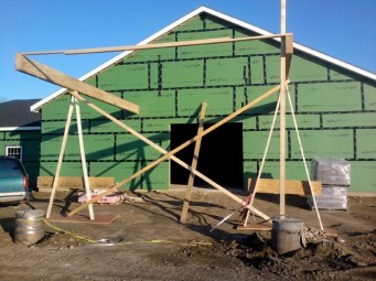 11/1/11 Carport, beam supports.