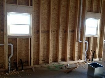 1/2/12 Kitchen plumbing and windows