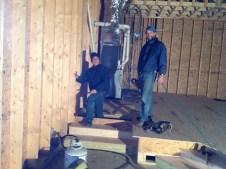 1/12 Gordon & Pastor Bill flooring the platform
