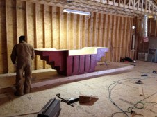 1/12 Gordon working on the baptistry install