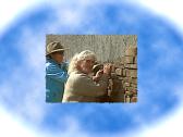 3/24/12 Corrine Brazee & Christy putting up some stones. Great work, ladies!!!!