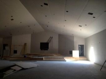 3/23/12 Auditorium sheetrock complete