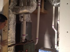 3/23/12 Sheet rock guys finishing the utility room