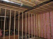 3/9/12 Sunday school rooms flush with insulated auditorium wall.