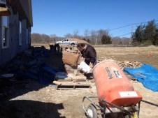 4/3/12 Matt Thibideaux mixing mortar