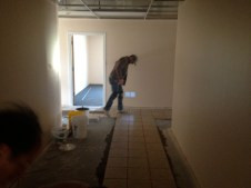 4/28/12 Brian pressing down the tiles