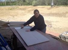 4/28/12 Luke cutting ceiling tiles
